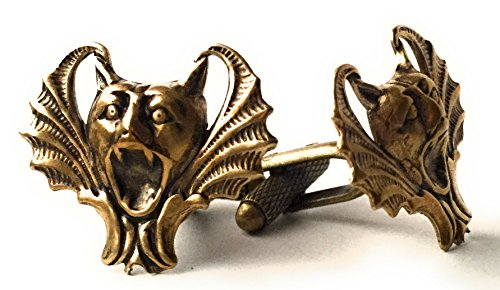 Woman Gargoyle Costume (Gothic Wedding Accessories for Men Gargoyle Cufflinks by Arcanum By Aerrowae - Bat Cuff Links for Groom)
