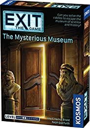 Exit: The Mysterious Museum | Exit: The Game - A Kosmos Game | Family-Friendly, Card-Based at-Home Escape Room