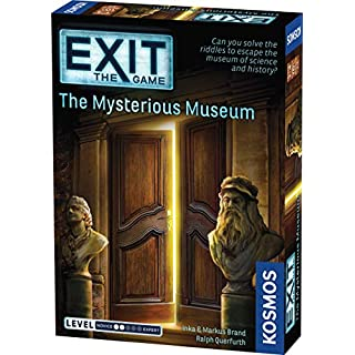 Exit: The Mysterious Museum | Exit: The Game - A Kosmos Game | Family-Friendly, Card-Based at-Home Escape Room Experience for 1 to 4 Players, Ages 10+