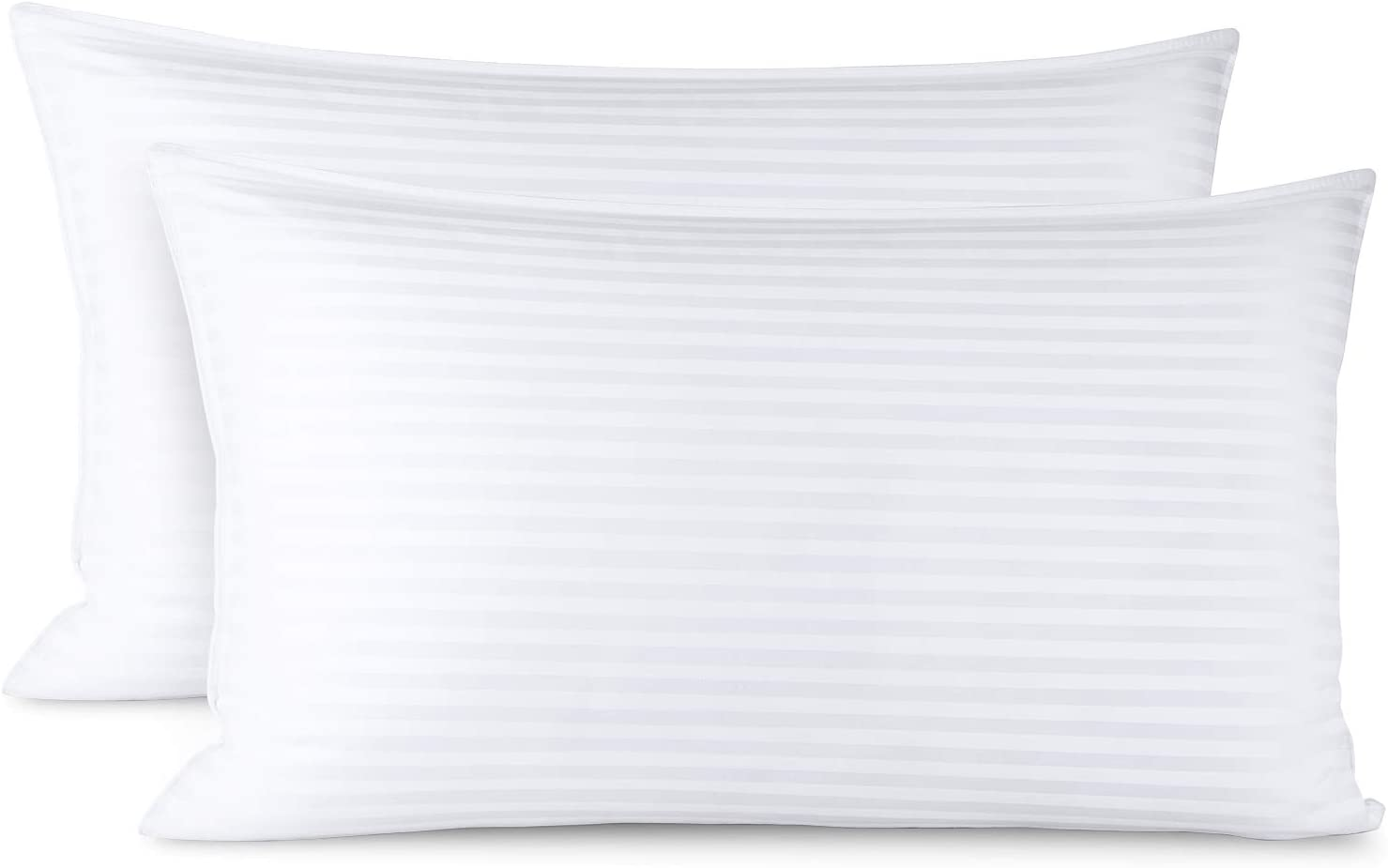 Nestl Bedding Bed Pillows for Sleeping | Down Alternative Sleep Pillows King Size Set of 2 | 100% Cotton Pillow Covers with Poly Fiber Filling | Soft Pillow for Sleeping