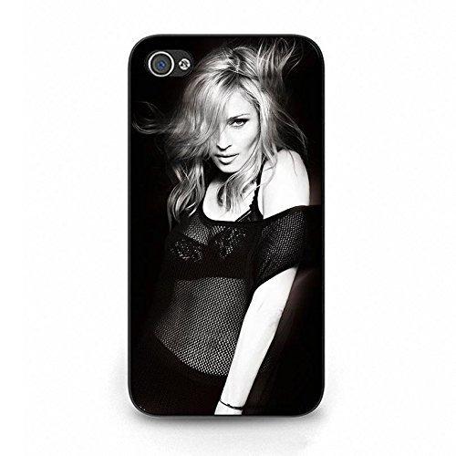 hülle Handyhülle Shell Fashion Sexy Schwarz Lace Super Singer Madonna Ciccone Phone hülle Handyhülle Cover for Iphone 4 4s Madonna New Stylish,Telefonkasten SchutzHülle
