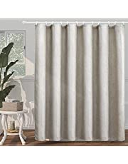 """SUMGAR Neutral Shower Curtain Tan Grey Beige Farmhouse Rustic Waterproof Polyester Fabric Cloth Hotel Luxury Heavy Duty Textured Thick Washable Bathroom Curtains Sets with Hooks -72"""" x 72"""""""