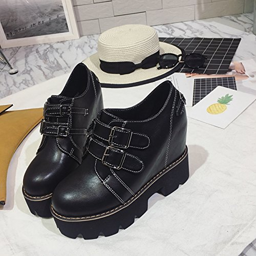 Spessore Muffin Scarpe Marea Il black Documentario Diminuito Con Maggiore Nuove Slope Con KHSKX Heeled Scarpe Shoes High dpFxqw0Xw