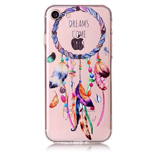 iPhone 7 Coque , Leiai Transparent Mode Ultra-mince Campanule Silicone Doux TPU Housse Gel Etui Case Cover pour Apple 7iPhone 7