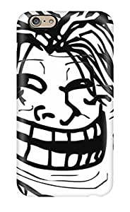 Durable Defender Case For Iphone 6 Tpu Cover(awesome Haired Troll Face By Budakurosaki Dsqc)