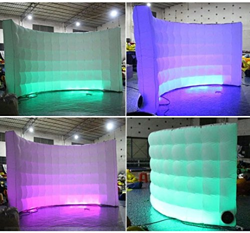 Photo Booth Backdrop Wall - Inflatable Portable Photography Backdrops with LED Changing Lights for Birthday, Graduation,Wedding,Parties (9.8x6.6ft) by SUNSHINAE (Image #2)