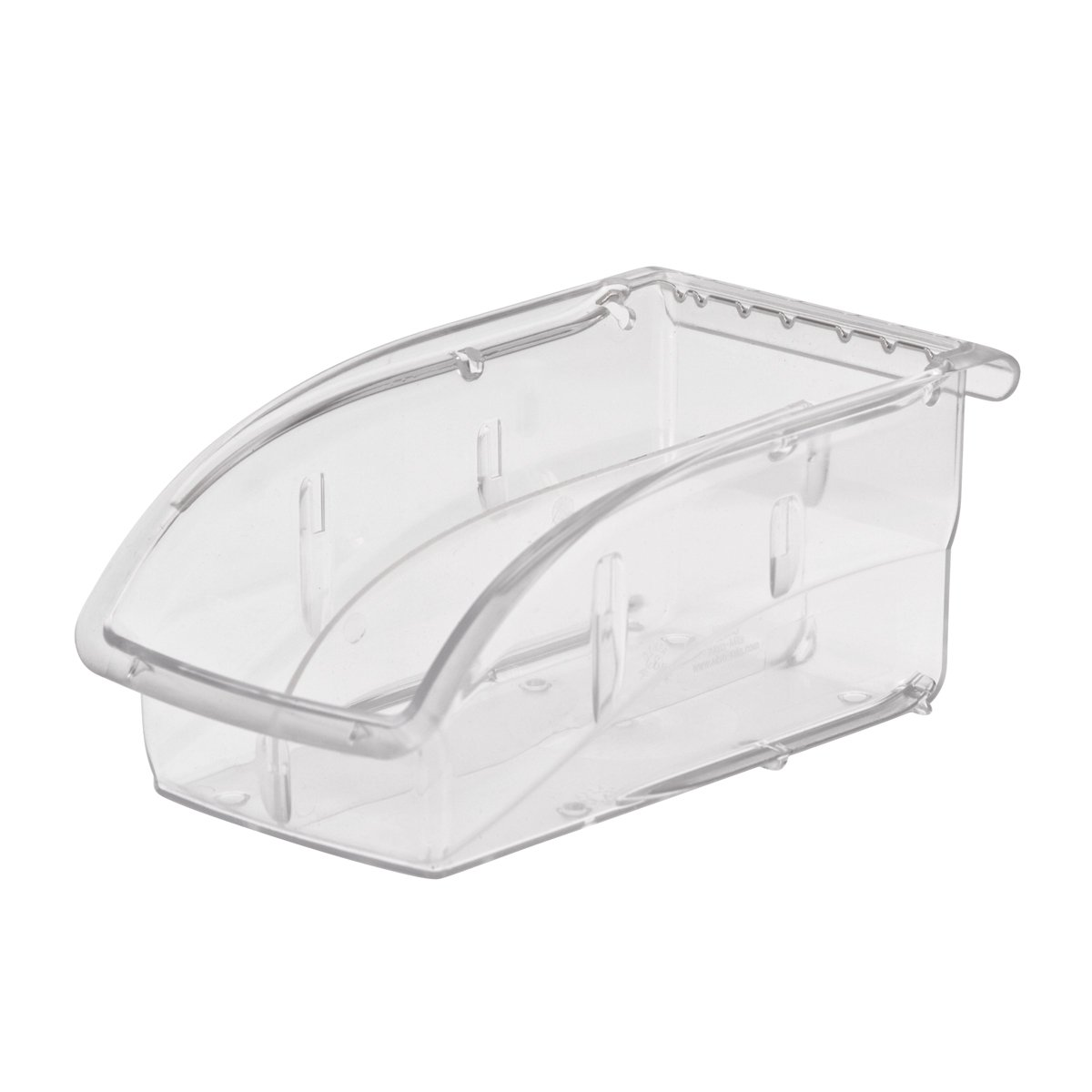 Akro-Mils 305A3 Insight Ultra-Clear Plastic Hanging and Stacking Storage Bin, 7-3/8-Inch Long by 4-1/8-Inch Wide by 3-1/4-Inch Wide, Case of 16