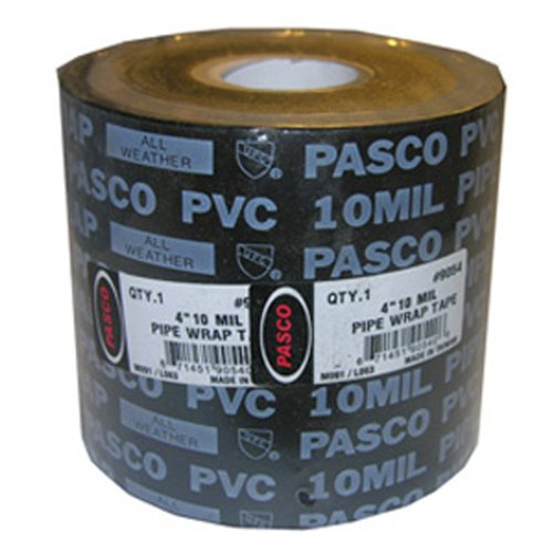 LASCO 02-4120 4-Inch Wide by 100-Feet Long 10ml Thick Gas Pipe Wrap Tape, Black by LASCO (Image #1)