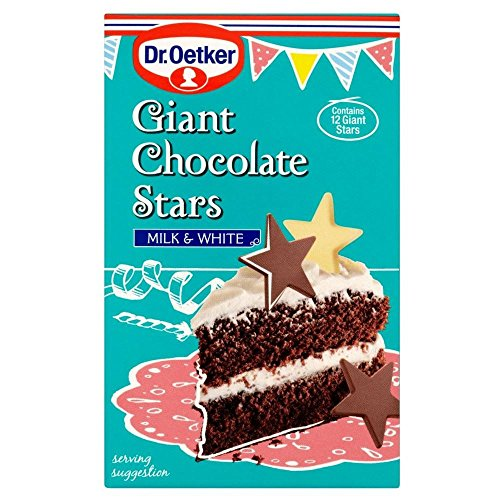 Dr. Oetker Giant Chocolate Stars Milk & White (20g) - Pack of 2 (Giants Dill Pickle compare prices)
