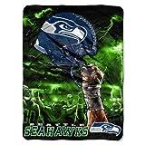 NFL Seattle Seahawks 60-Inch-by-80-Inch Plush Rachel Blanket, Sky Helmet Design