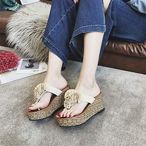 YUCH pour Antidérapantes Chaussures Pantoufles Et Mi Femmes rwI80xCwqH