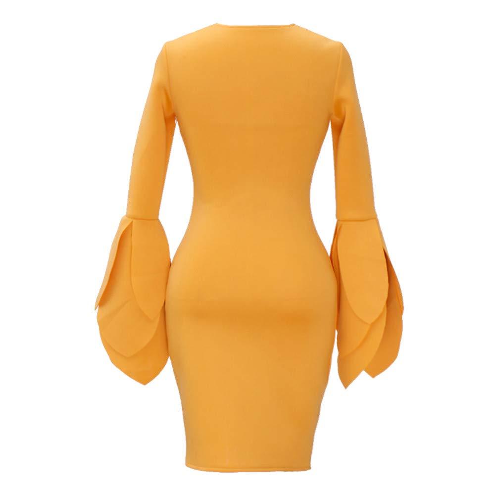 Mymyguoe Mujeres Vestidoes Vintage Vestido de l/ápiz de Flores Vestido Bodycon Vestidos Slim Fit Vestido de Fiesta de Noche Vestidos Coctel Vestido sin Mangas Plisado Flor