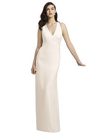 9e38bf2230 Amazon.com  Dessy Style 2938 Floor Length Crepe Trumpet Skirt Formal Dress  - Open Back Halter V-Neck  Clothing