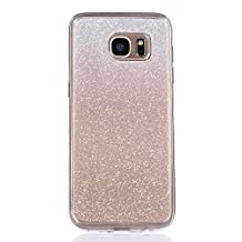 Galaxy S6 Edge Case, TIPFLY Glitter Protective Case Ultra Light Slim Shinning Bling Skin Cover Bumper Sparkle Flexible Silicone Soft Case for Samsung Galaxy S6 Edge - Gradient Rose Gold
