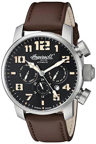 Ingersoll-reloj-automtico-Unisex-con-esfera-analgica-y-correa-de-piel-color-marrn-IN1224SBK