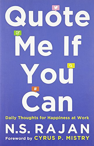 Quote Me if You Can: Daily Thoughts for Happiness at Work (Best Finance Magazines In India)
