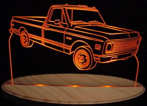 1972 Chevy Pickup Truck Cheyene Super Acrylic Lighted Edge Lit 11-13