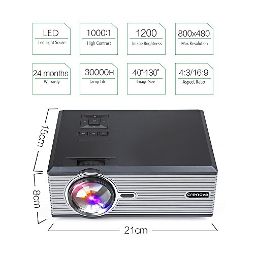 Crenova xpe470 mini led video projector office projector for Iphone mini projector reviews