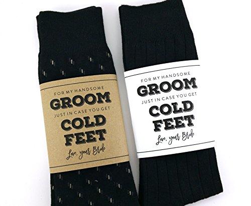 Groom Socks (Cold Feet Sock Wrapper, Groom Gift, Wedding Socks Wrapper, Wedding Socks Label (SOCKS NOT INCLUDED))