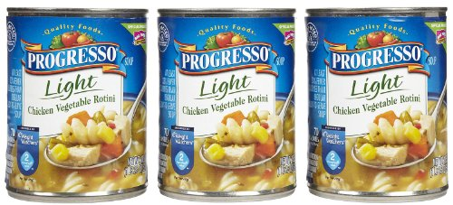 Progresso Chicken Vegetable Rotini Light, 18.5 oz, 3 Pack