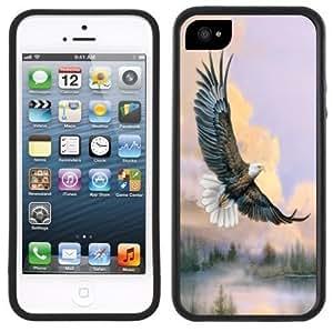 New Style Bald Eagle Soaring Handmade iPhone 5C Black Case