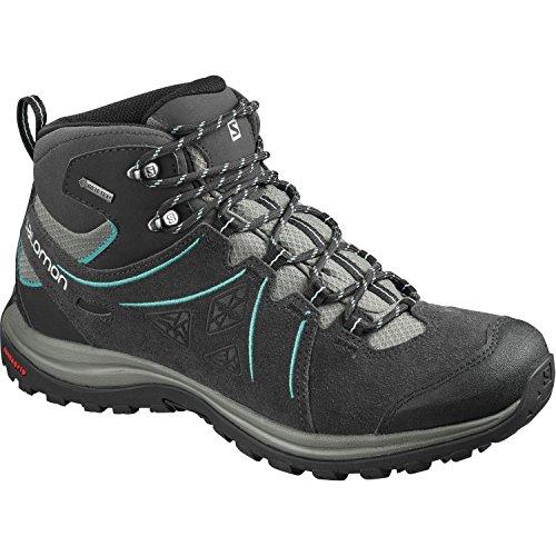 Salomon Damen Ellipse 2 Mid Ltr Gtx W Trekking- & Wanderstiefel, Grau Grau (phantom / Castor Grey / Aruba Blue 000)