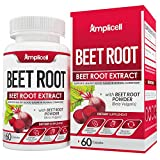 Beet Root Powder Capsules - 1300mg Pure Beetroot Powder Extract - Superfood Powder Wellness Formula - Nitric Oxide Booster - Immune Support & Preworkout Supplement - 60 Beet Root Capsules for 30 Days