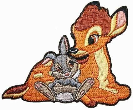 Disney Bambi Character Thumper the Rabbit Embroidered Iron On Movie Patch DS-85 /Écusson/Patch en fer brod/é sur accessoire Souvenir Applique