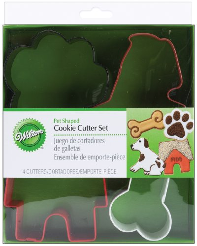 Wilton Metal Cookie Cutters 4/Pkg-Pet Theme