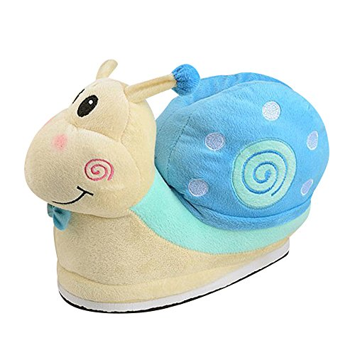Slipper Bleu en Souple Escargot Adulte Chaussons Cosplay Costume Unisexe Pantoufle Peluche Yn8FvFq