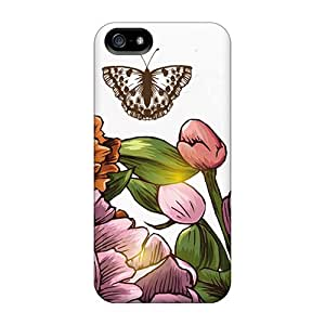 For Iphone Case, High Quality Vintage Flowers For Iphone 5/5s Cover Cases