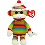 TY Beanie Baby - SOCKS the Sock Monkey (Stripes) + Free 12 Pack Of Striped*Tye*Dye Animal Shaped Silly Bandz Bracelets by Pii