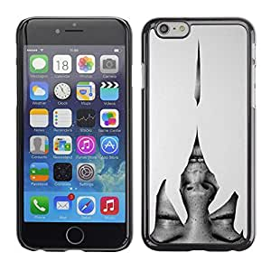 Caucho caso de Shell duro de la cubierta de accesorios de protección BY RAYDREAMMM - Apple iPhone 6 - Heartbreak Grey Woman Eyes