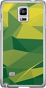 Loud Universe Samsung Galaxy Note 4 Geometrical Printing Files A Geo 6 Printed Transparent Edge Case - Green