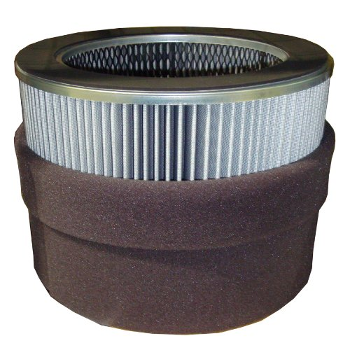 Solberg 377P Polyester Filter Cartridge, Blower, Vacuum Pump, 14-1/2'' Height, 9'' Inner Diameter, 14-5/8'' Outer Diameter, 1825 SCFM, Made in the USA by Solberg