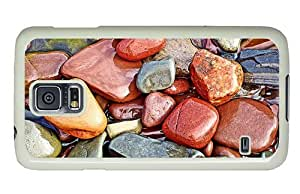 Hipster Samsung Galaxy S5 Case awesome Colored wet Stones PC White for Samsung S5