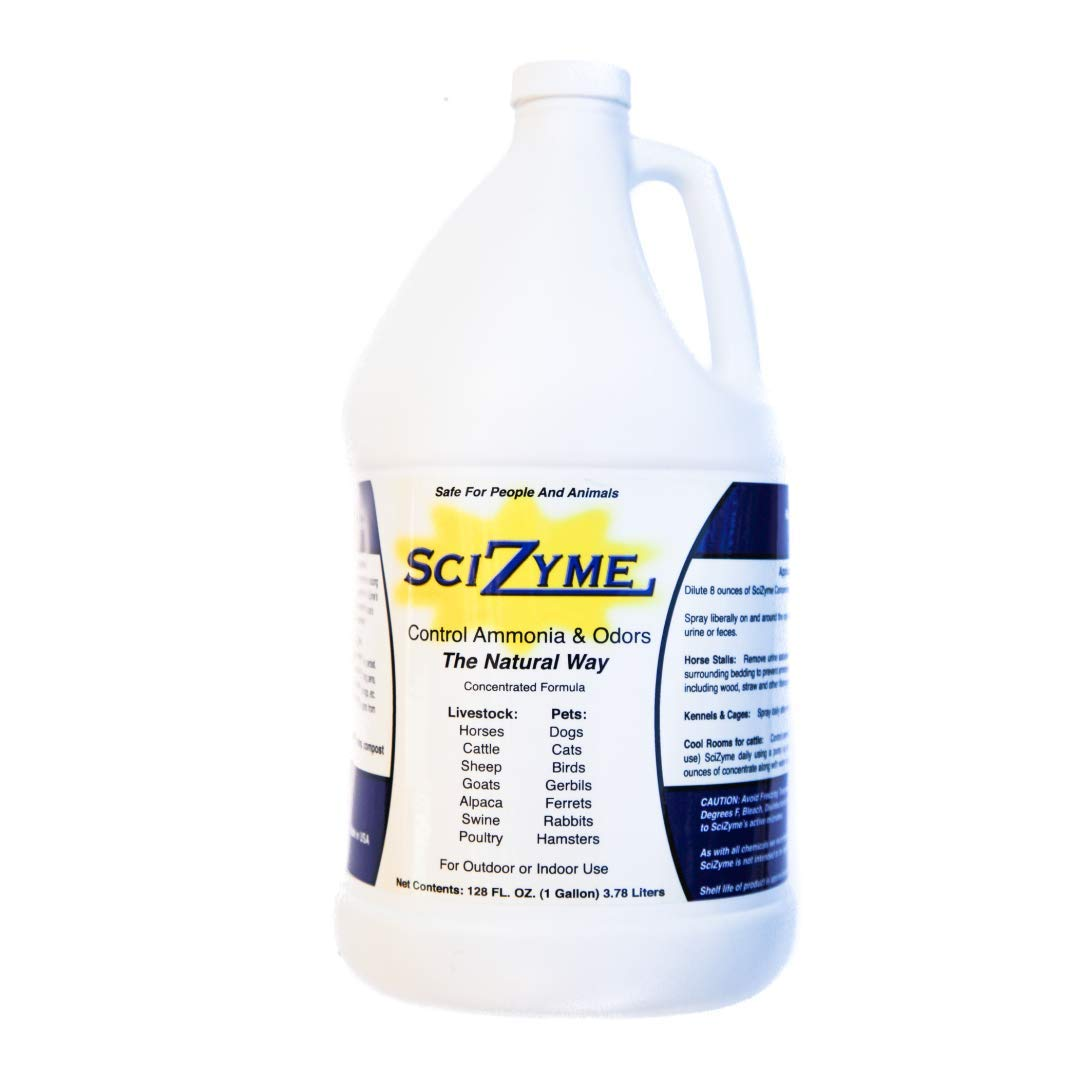 SciZyme - Fresh 500 Concentrate - Enzyme Based Eliminator and Control Odors and Ammonia in Cooler Rooms, Barns, Trailers, Kennels, Concrete (1 Gallon) by SciZyme - Fresh 500