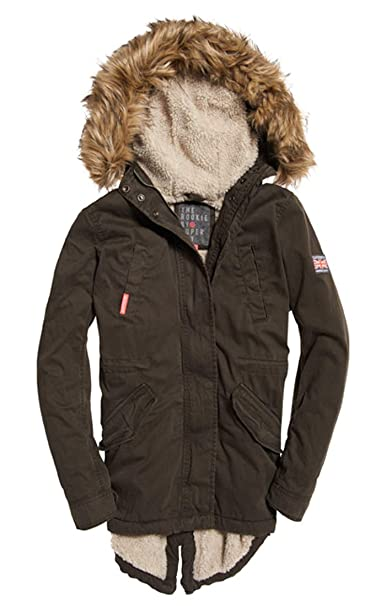 Superdry Classic Rookie Fishtail Parka Mujer: Amazon.es: Ropa y accesorios