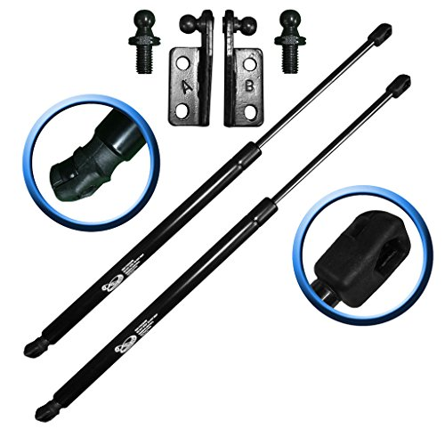 Two Rear Hatch Hatchback Liftgate Trunk Gas Charged Lift Supports With Studs and Brackets For 1995-2004 Subaru Legacy Wagons, 2000-2004 Subaru Outback Wagons. LSC-0264-265