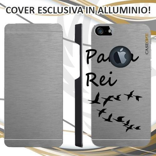 CUSTODIA COVER CASE PANTA REI PER IPHONE 5 ALLUMINIO TRASPARENTE