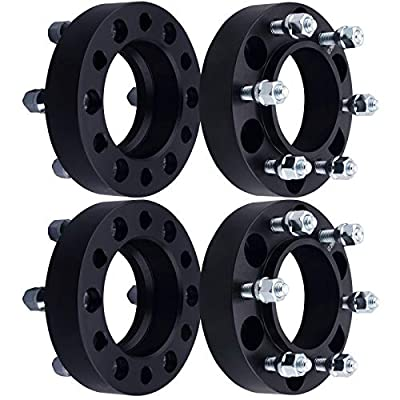 DCVAMOUS 6 Lug Black Hubcentric Wheel Spacers 6x5.5 with 12x1.5 Studs for 2001-2020 Toyota Tacoma,1996-2020 Toyota 4Runner,2000-2006 Tundra,2007-2014 FJ Cruiser,2001-2007 Sequoia(4PC, 1.25
