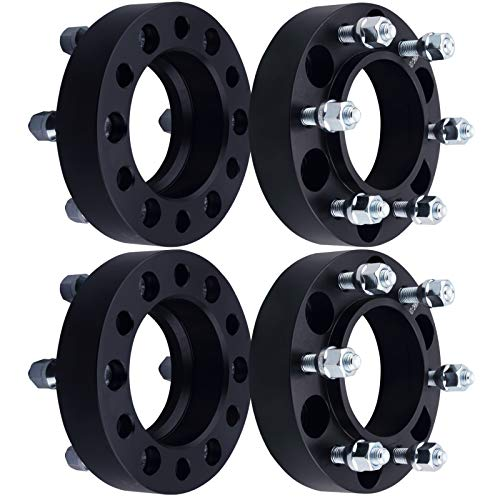 - DCVAMOUS 6 Lug Black Hubcentric Wheel Spacers 6x5.5 with 12x1.5 Studs for 2001-2018 Toyota Tacoma,1996-2018 Toyota 4Runner,2000-2006 Tundra,2007-2014 FJ Cruiser,2001-2007 Sequoia(4PC, 1.25