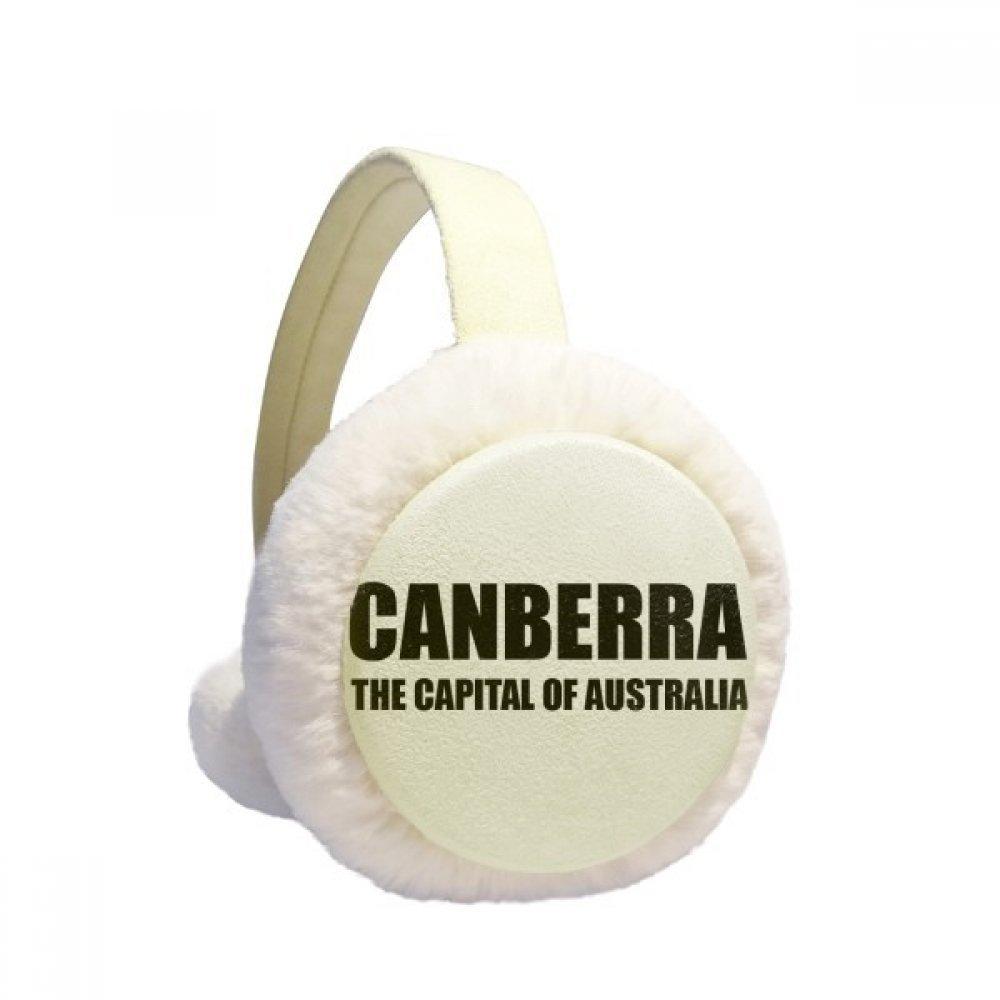Canberra The Capital Of Austrialia Winter Earmuffs Ear Warmers Faux Fur Foldable Plush Outdoor Gift