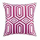 Hotel Soho Linen Embroidered Pillow Color: Pink