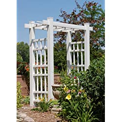 Dura-Trel Windsor Arbor in White Finish