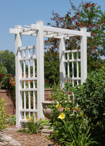 Dura-Trel Windsor Arbor in White Finish ()