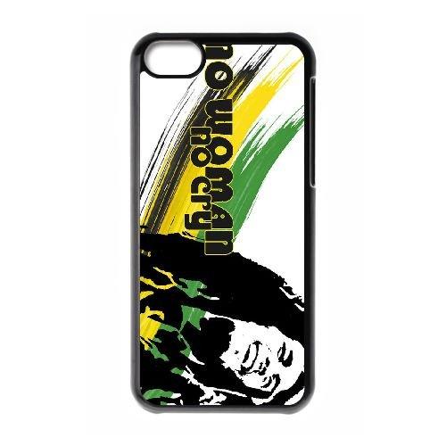 P1M45 Bob Marley No Woman No Cry I3H7PJ cas d'coque iPhone de téléphone cellulaire 5c couvercle coque noire HW8MBB1SE