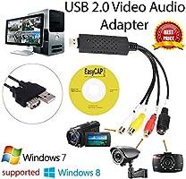 Tarjeta de captura de Easycap USB 2.0Video TV DVD VHS tarjeta de captura de audio vhs 3en 1a adaptador conversor pc ps3Xbox DVD para Win 783264