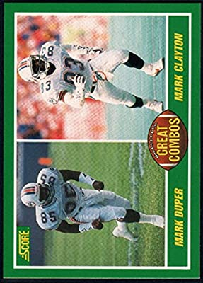 Football NFL 1989 Score #283 Mark Duper/Mark Clayton GC Dolphins