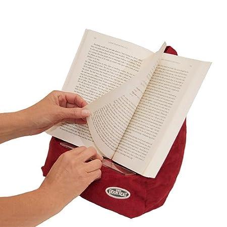 BOOK SEAT The Atril para Libro, diseño en Forma de Saco, Color Rojo